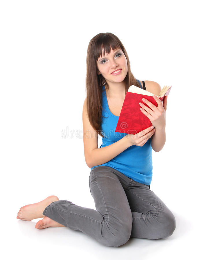 Download Girl student read the book stock photo. Image of female - 18352542