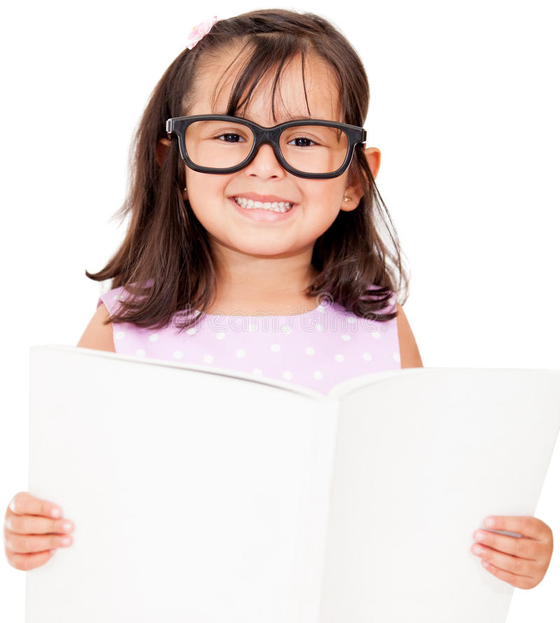 Download Girl student reading book stock photo. Image of education - 24901844