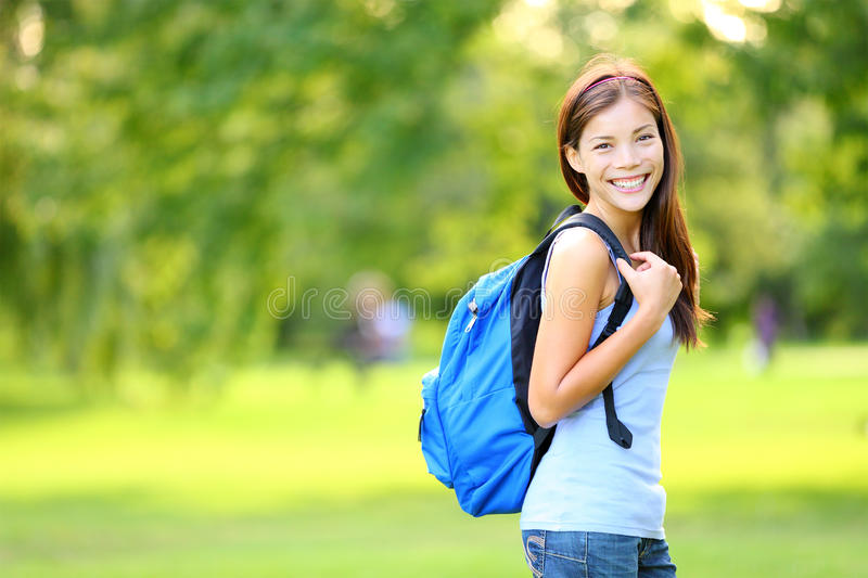 Girl student in summer / spring royalty free stock photography