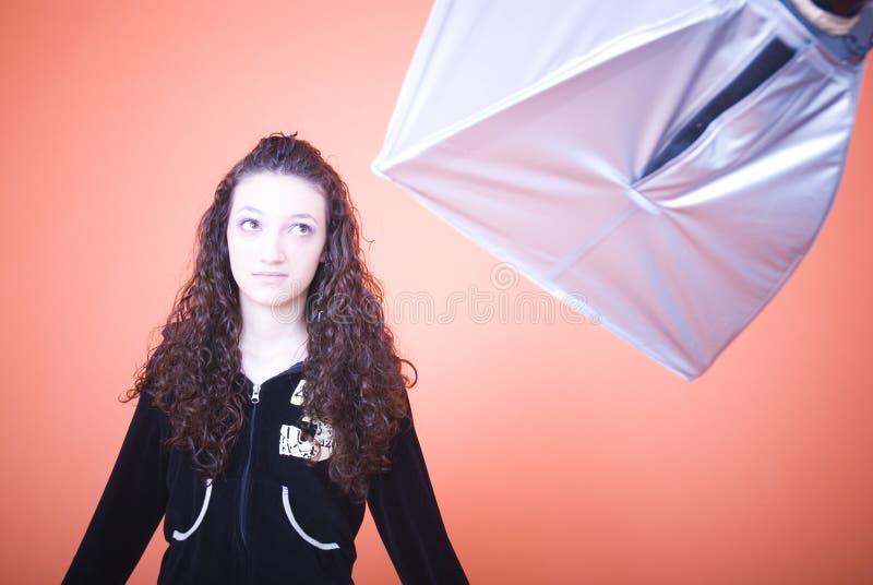 Download Girl in studio stock image. Image of takes, brunette, girl - 2484819