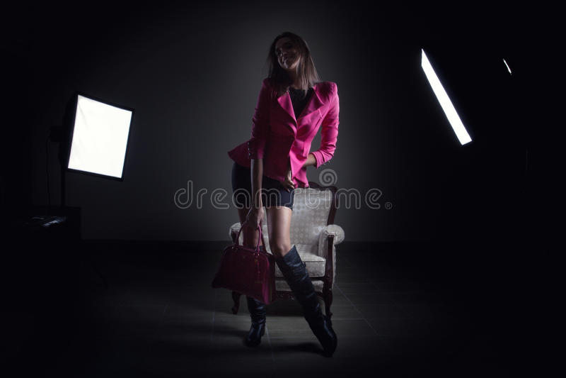 Download Girl at studio posing stock photo. Image of soft, studio - 27373724