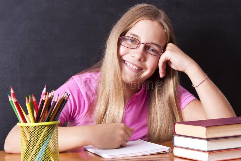 Girl studying stock image