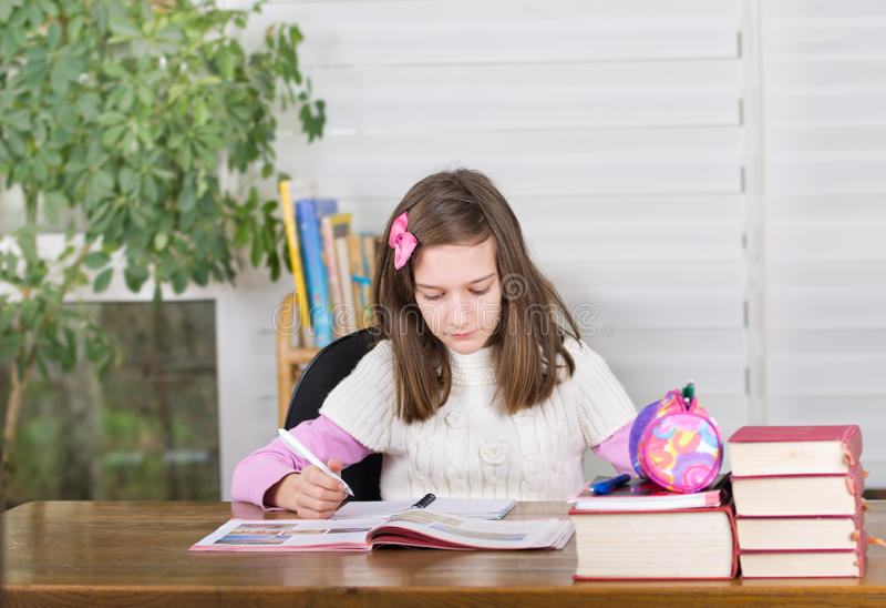Girl studying royalty free stock image