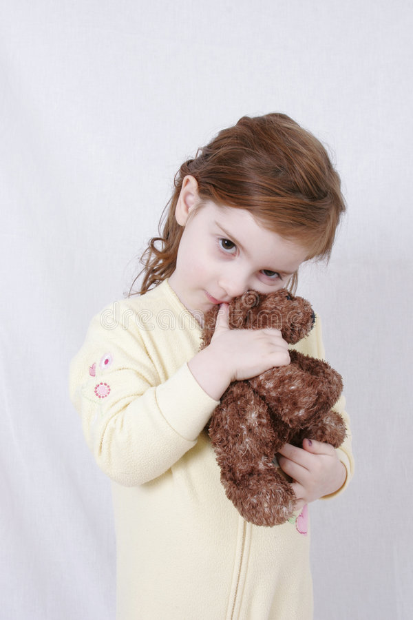 Download Girl with stuffed bear stock photo. Image of beautiful - 471816