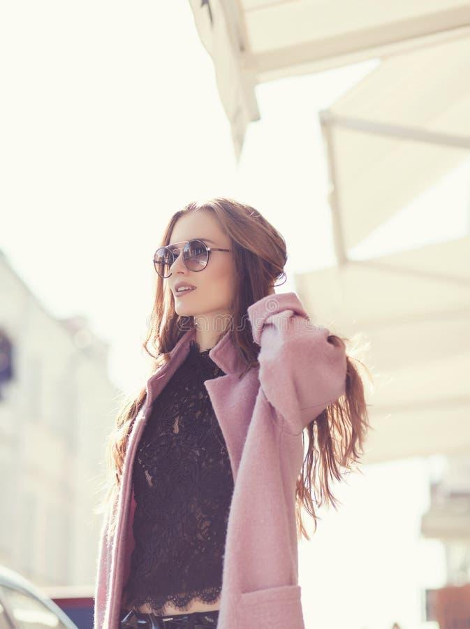 Girl in stylish sunglasses stock photo