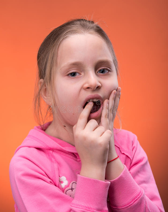 Download Girl Suffering From A Toothache Stock Image - Image of caucasian, children: 30048859