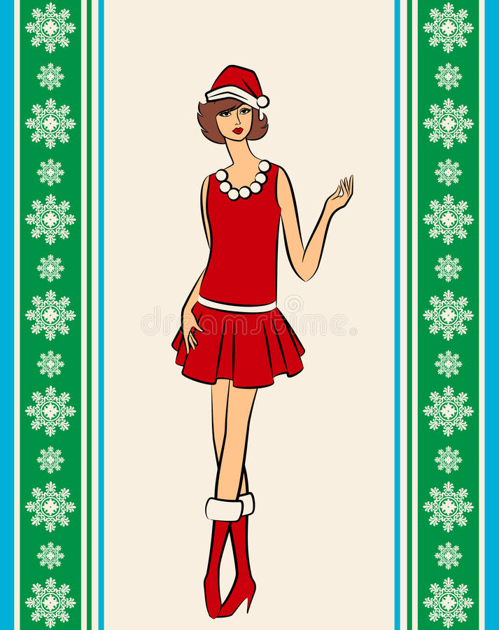 Download Girl in suit Snow Maiden stock vector. Image of holiday - 22100469