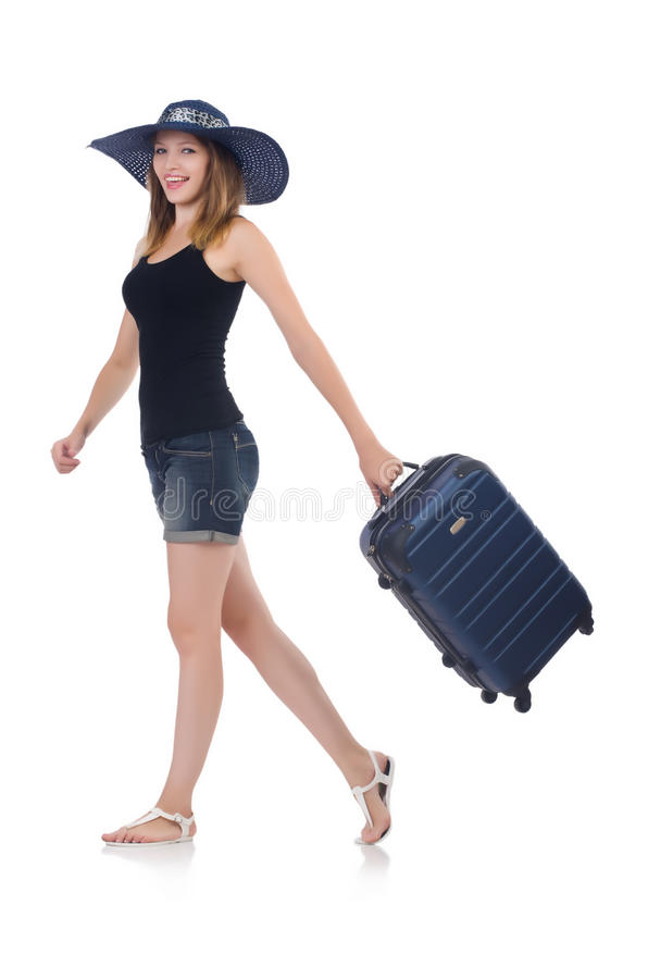 Download Girl With Suitcases Royalty Free Stock Image - Image: 34282016