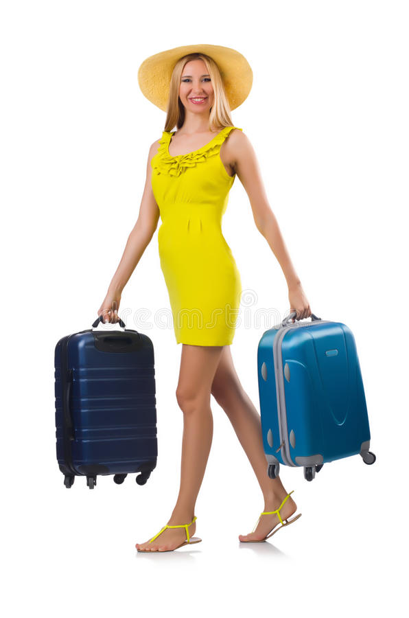 Download Girl with suitcases stock photo. Image of suitcase, panama - 34283896