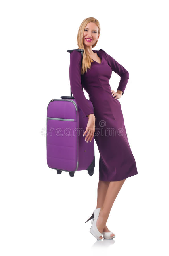 Download Girl With Suitcases Royalty Free Stock Photos - Image: 35064528