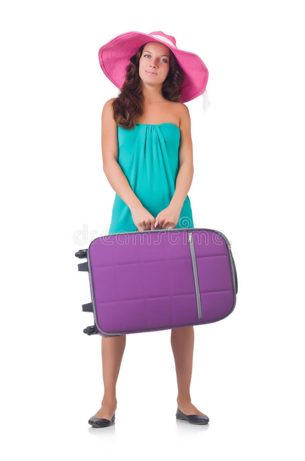 Download Girl with suitcases stock image. Image of airport, adventure - 35064611