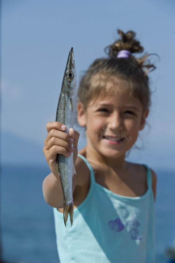 Download Girl on summer stock photo. Image of holiday, fish, play - 15453922