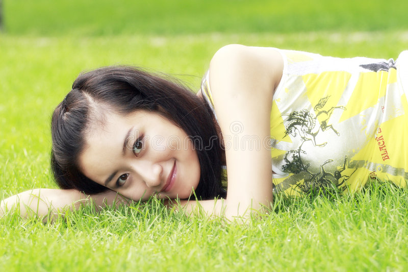 Download Girl in summer. stock image. Image of color, attractive - 5831933