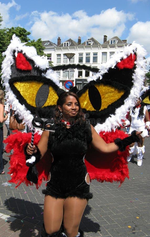 Girl on summer carnaval parade