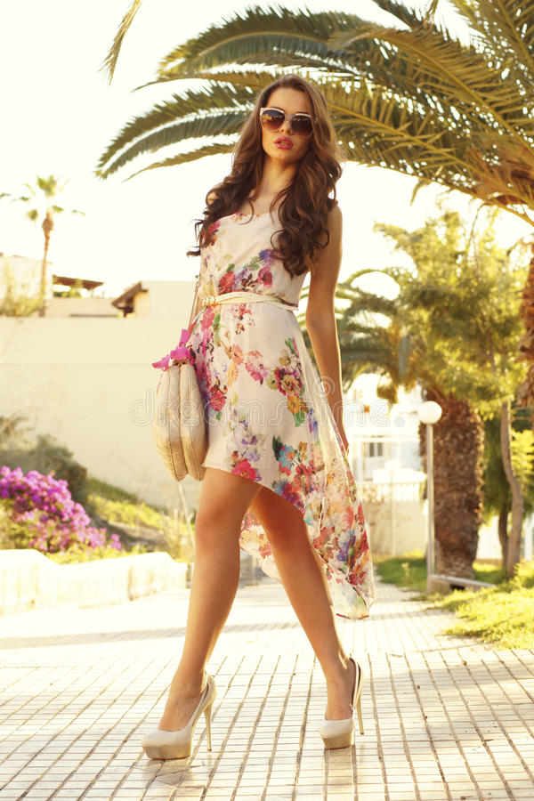 Download Girl In Summer Dress Stock Photo - Image: 29415300