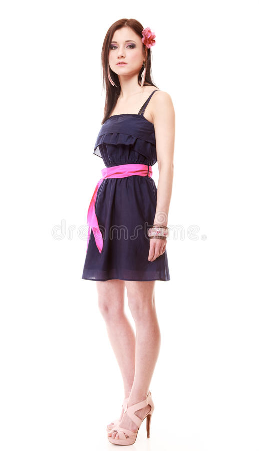 Girl In Summer Style Fashion Photo Isolated Royalty Free