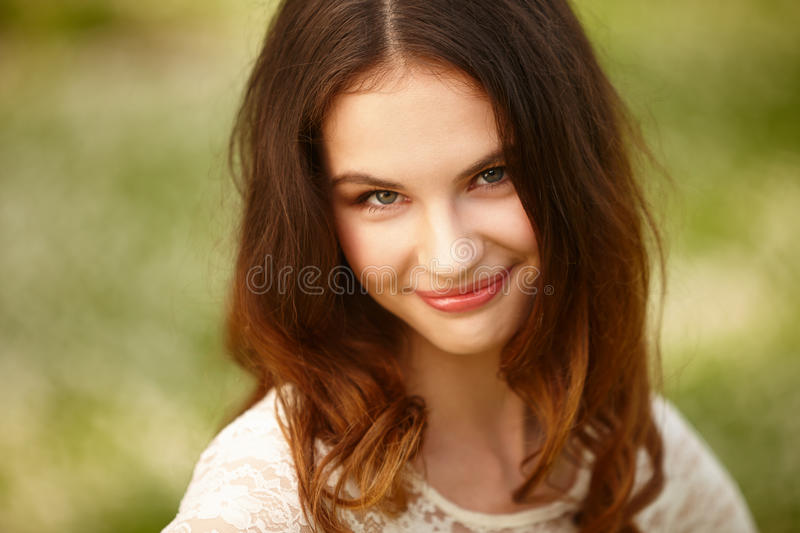 Girl on a summer time royalty free stock photos