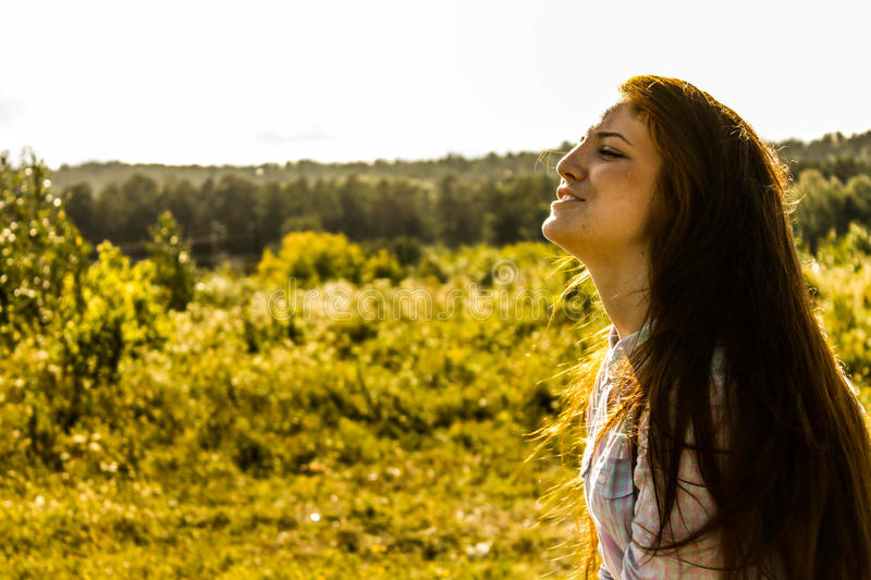 Girl in summer royalty free stock photography