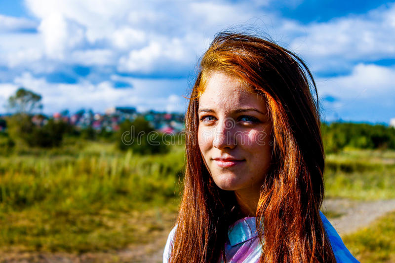 Girl in summer stock photography