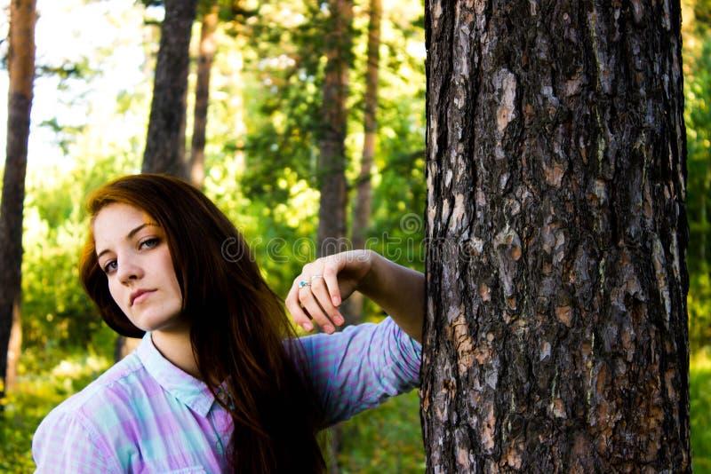 Girl in summer stock photos
