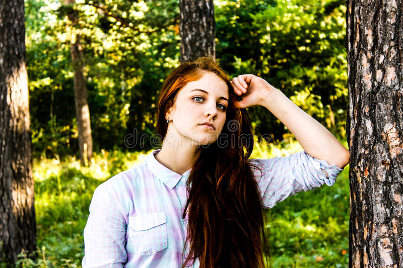 Girl in summer royalty free stock images