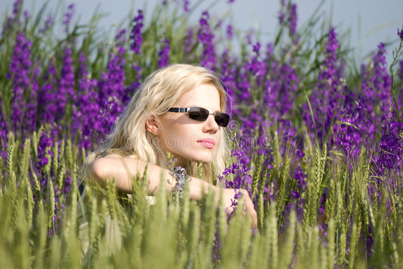 Download Girl in sun glasses stock image. Image of beautiful, blondie - 14854629