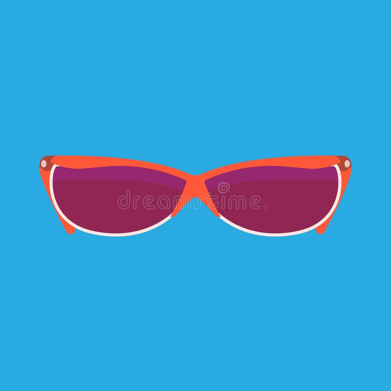 Girl sun reading glasses female style design symbol object. Person plastic vector icon isolated illustration royalty free illustration