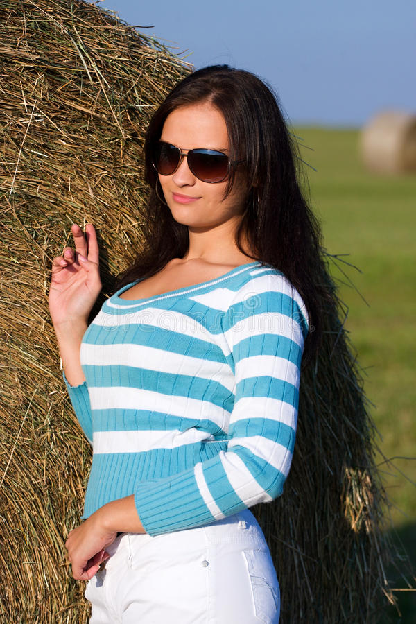 Download Girl with sunglasses stock photo. Image of adult, hair - 17270036