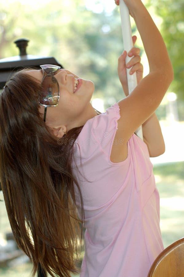 girl sunglasses young arkivbilder