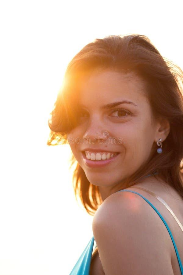 Girl in sunshine stock photos
