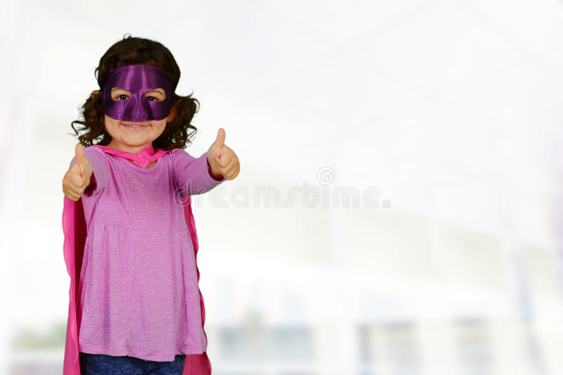 Girl Super Hero royalty free stock images