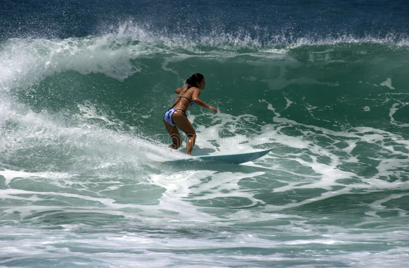 Download Girl surfer editorial stock photo. Image of girl, young - 172973