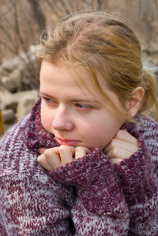 Girl in Sweater 2 stock photography