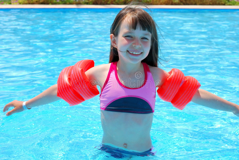 Girl Swimming royalty free stock photo
