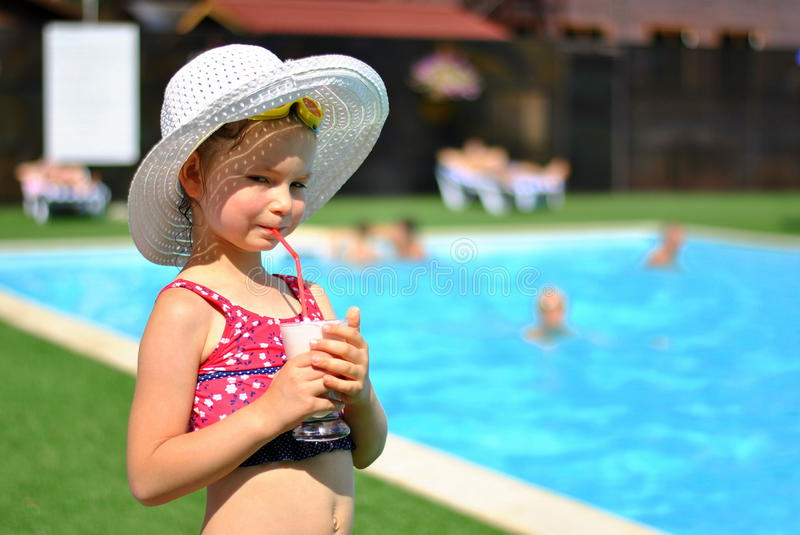 Download Girl in the swimming pool stock image. Image of relax - 26942997