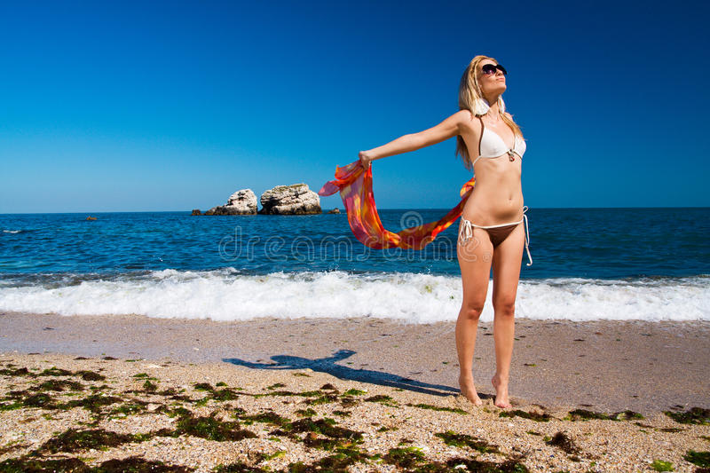Download Girl with swimsuit stock image. Image of girl, attractive - 10441361