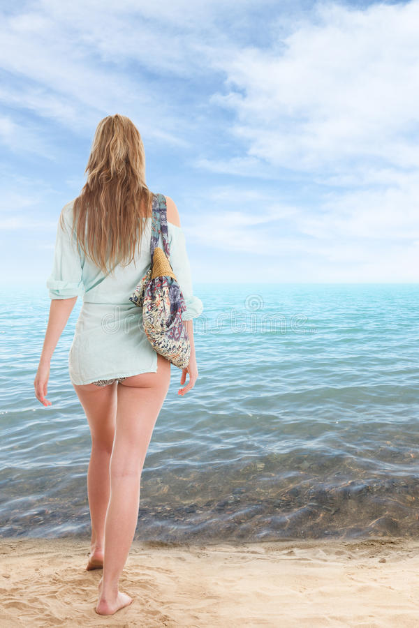 Download Girl in swimsuit stock image. Image of beauty, swimsuit - 25420037