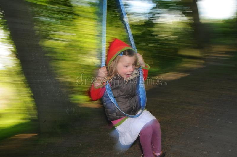 Download Girl on Swing stock photo. Image of blur, straps, accelerate - 14641634