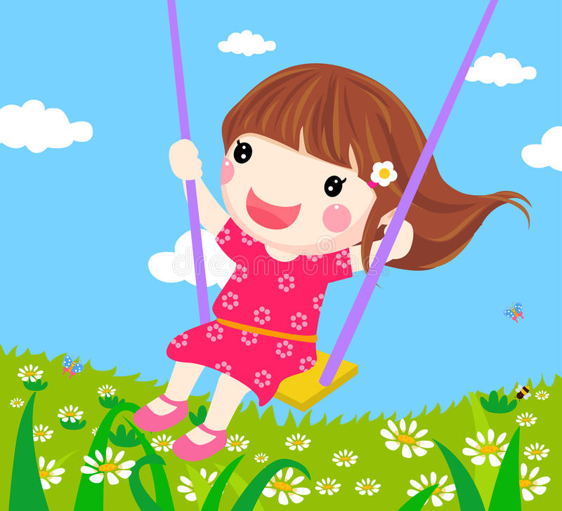 Download Girl On A Swing Stock Photography - Image: 18520322