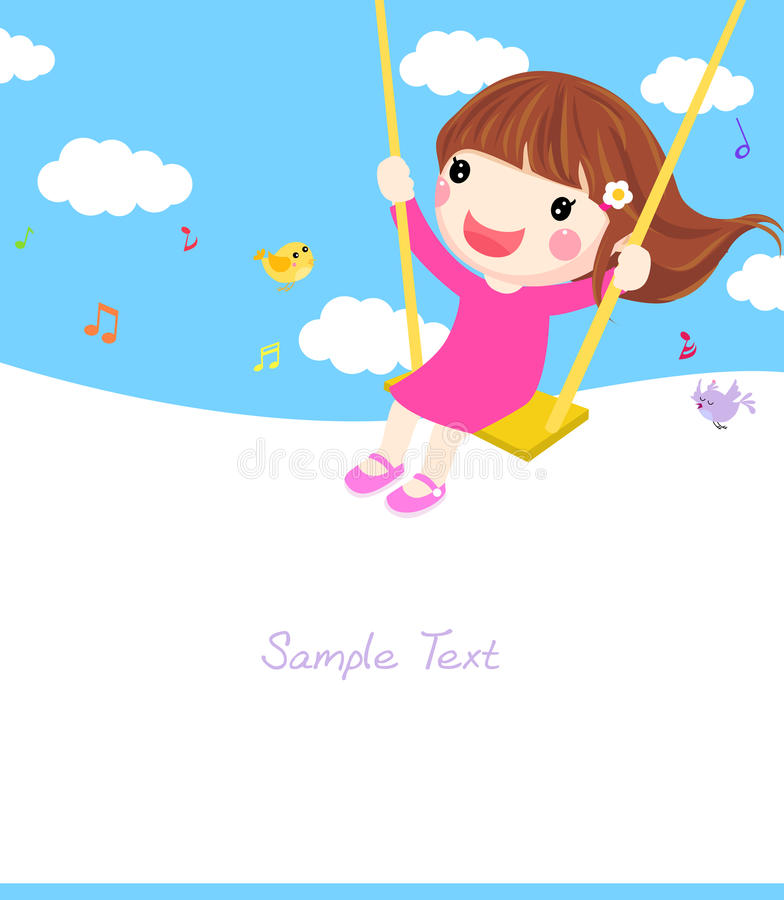 Download Girl on a Swing stock vector. Illustration of outdoor - 27562185
