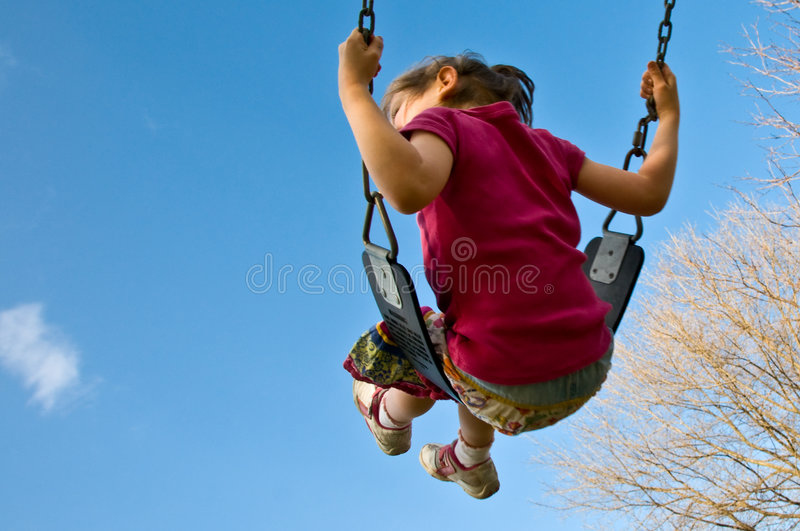 Download Girl Swings Into Sky Stock Images - Image: 4813214