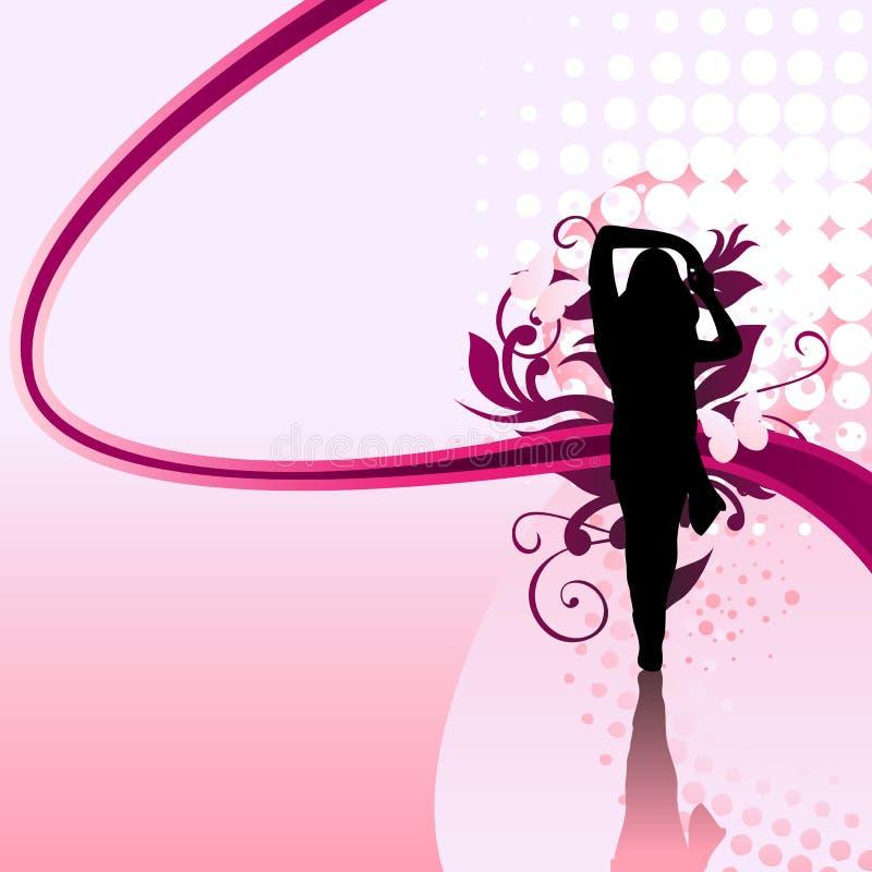 Girl Swirl vector illustration