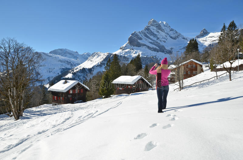 Download Girl In Swiss Alps Stock Photos - Image: 37721303