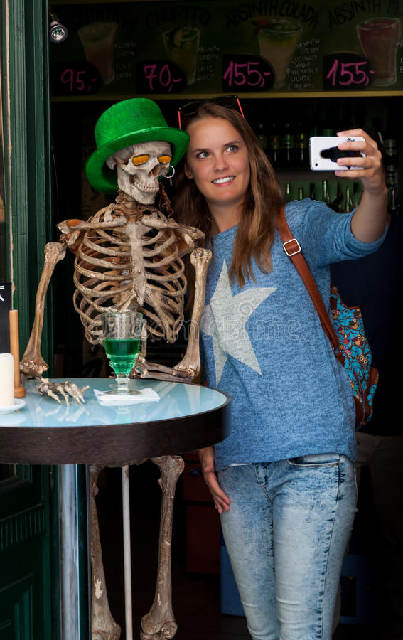 Free Girl Taking Halloween Selfie Stock Photos - 45097063