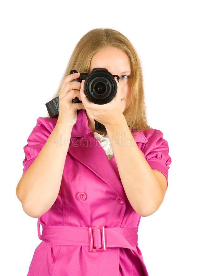 Download Girl  taking photo stock photo. Image of girl, occupation - 17033410