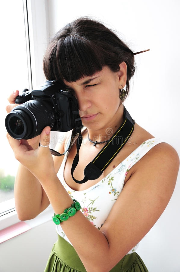 Download Girl taking pictures stock image. Image of face, photograph - 15850609