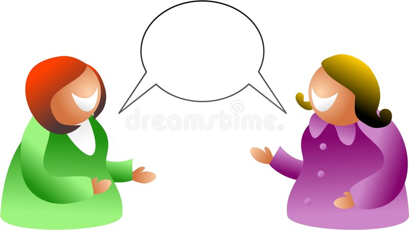 Girl talk stock illustration