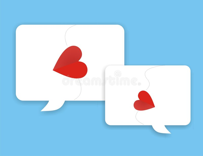 Download Girl talk LOVE stock vector. Image of communication, romantic - 3980066