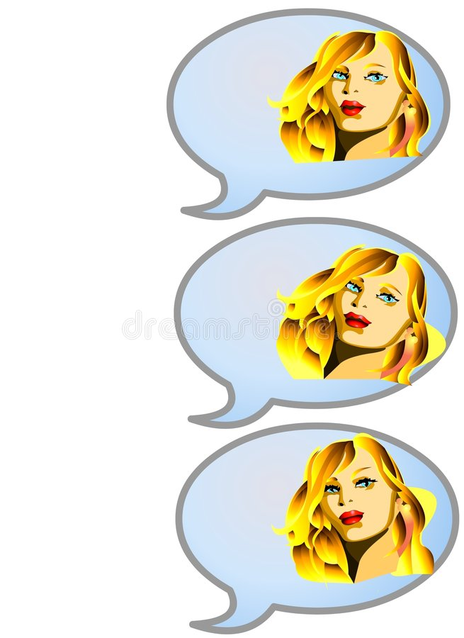 GIRL TALKING SEQUENCE vector illustration