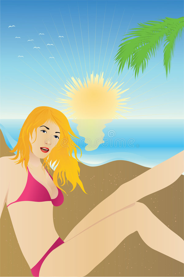 Download Girl Tanning Royalty Free Stock Photography - Image: 2597787